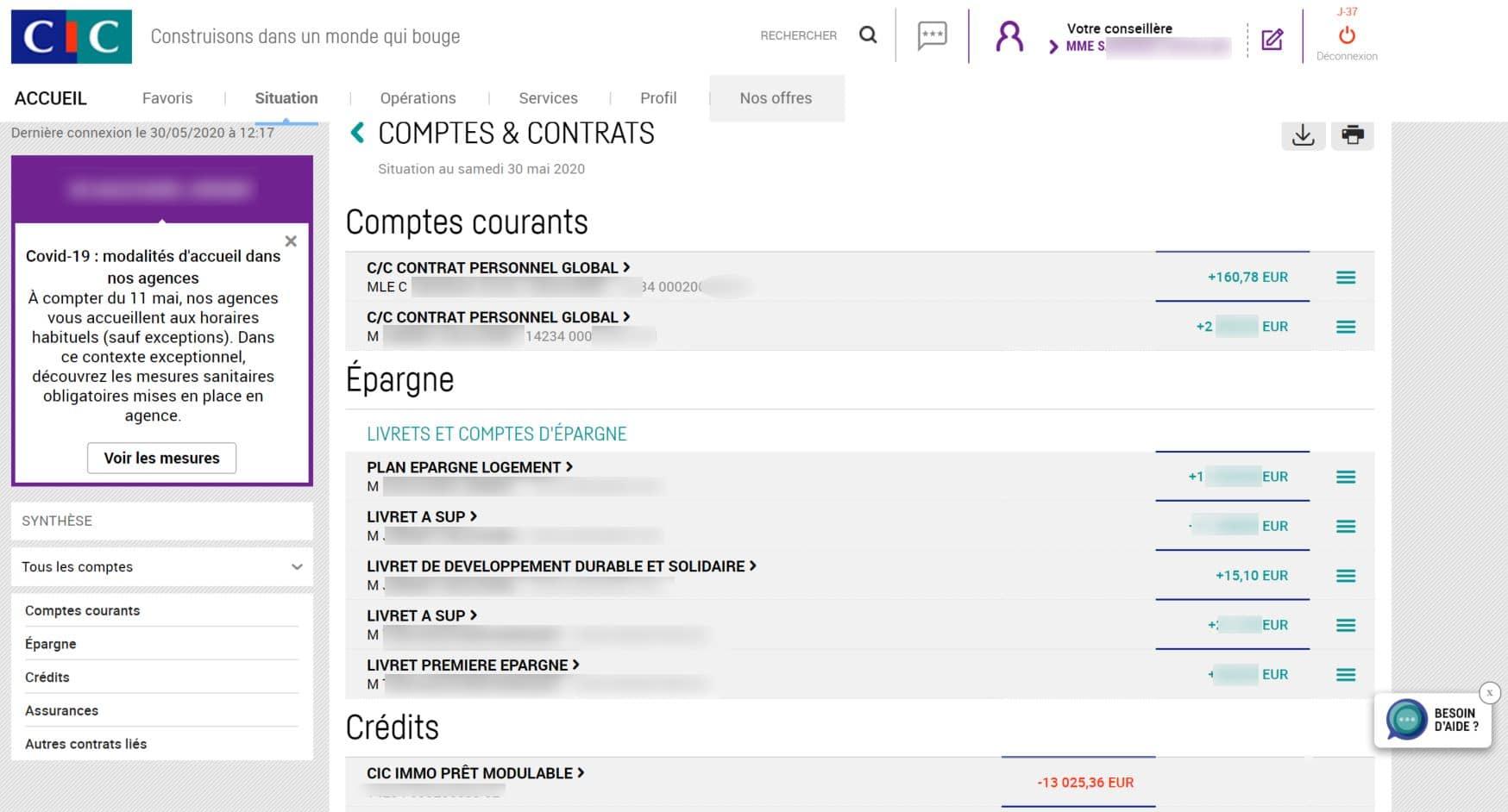 consultation comptes en banque cic filbanque