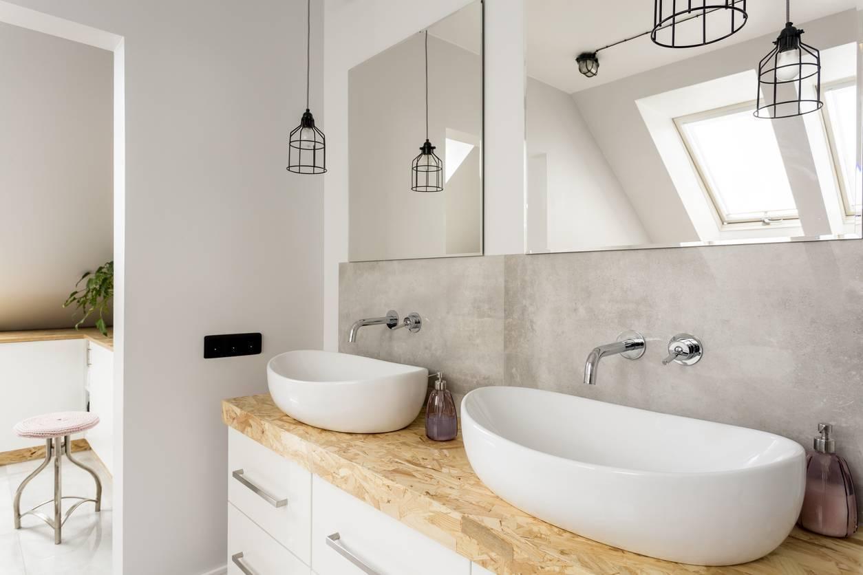 rénovation salle de bains luminaires design
